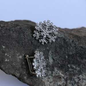 Gümüş Bayan Kar Tanesi Küpe